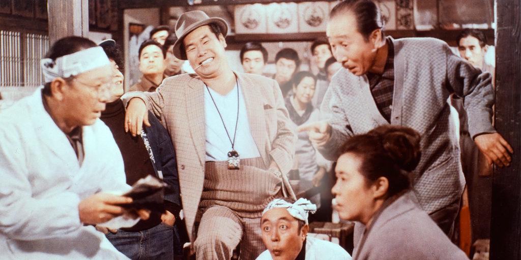 浅草フランス座 演芸場 東洋館  大芸人 渥美清 寅さん フランス座 ビートたけし  画面には大勢の人が写る、映画『男はつらいよ』