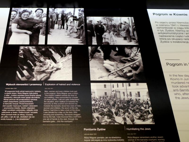 グダニスク グダンスク ダンツィヒ 博物館 戦争 ポーランド 第二次世界大戦博物館 ポグロムの解説パネル @Muzeum II Wojny Światowej w Gdańsku