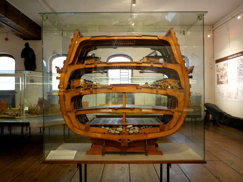 グダニスク グダンスク ダンツィヒ 博物館 港町 ポーランド 海事博物館 海洋博物館 穀物倉庫 船のカットモデル @National Maritime Museum in Gdansk