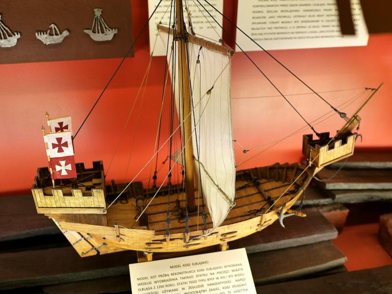 グダニスク グダンスク ダンツィヒ 博物館 港町 ポーランド 海事博物館 海洋博物館 穀物倉庫 エルブロンクのコグ船 @National Maritime Museum in Gdansk