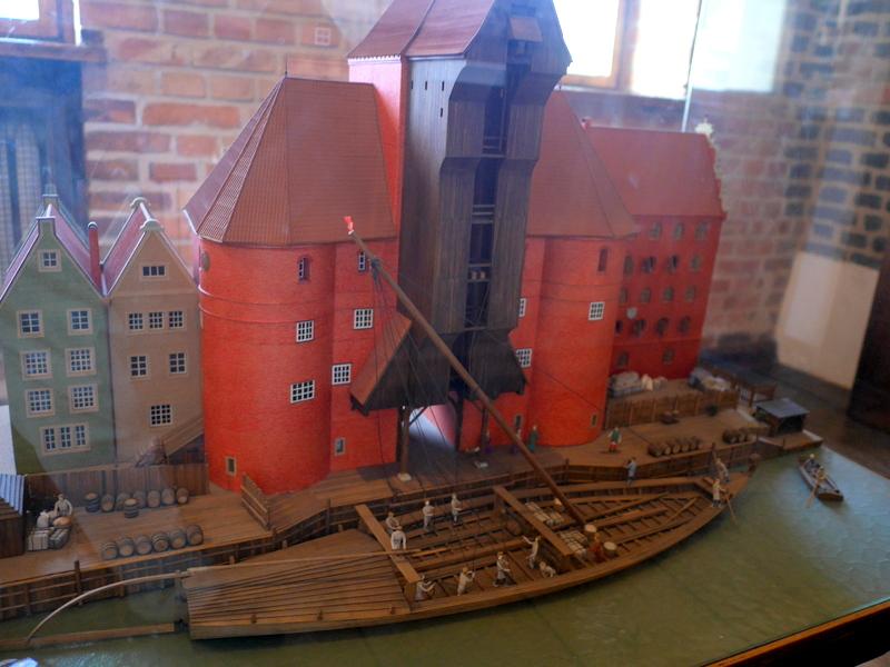 グダニスク グダンスク ダンツィヒ 博物館 港町 ポーランド 海事博物館 海洋博物館 穀物倉庫 グダニスクのクレーンの運用ジオラマ @National Maritime Museum in Gdansk