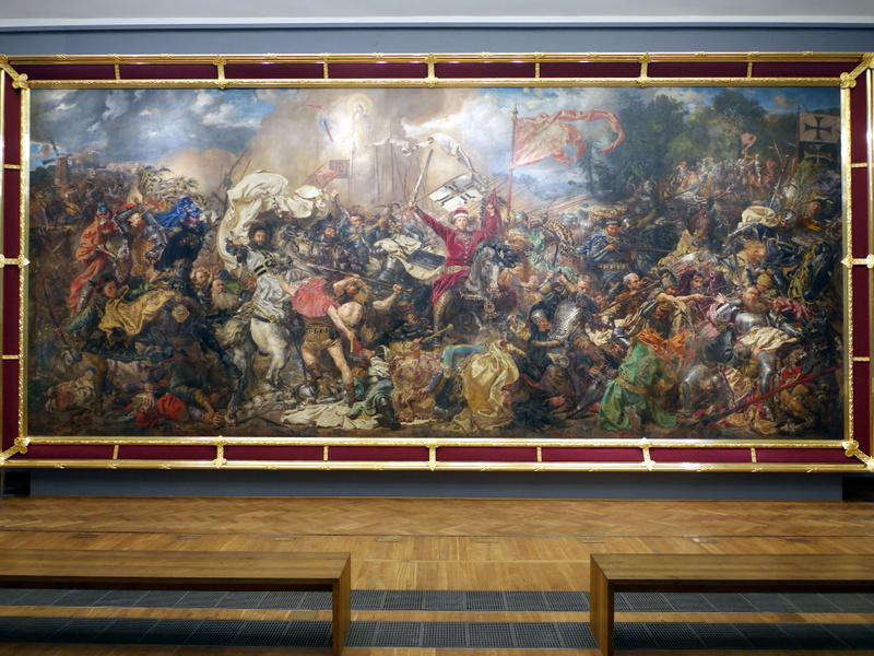 グダニスク ポーランド マルボルク城 タンネンベルクの戦い 北の十字軍 マリーエンブルク ドイツ騎士団   ワルシャワにある、ヤン・マテイコ『グルンヴァルトの戦い』@Muzeum Narodowe w Warszawie