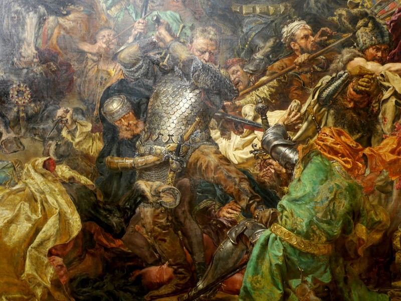 グダニスク ポーランド マルボルク城 タンネンベルクの戦い 北の十字軍 マリーエンブルク ドイツ騎士団   ヤン・マテイコ『グルンヴァルトの戦い』拡大 @Muzeum Narodowe w Warszawie