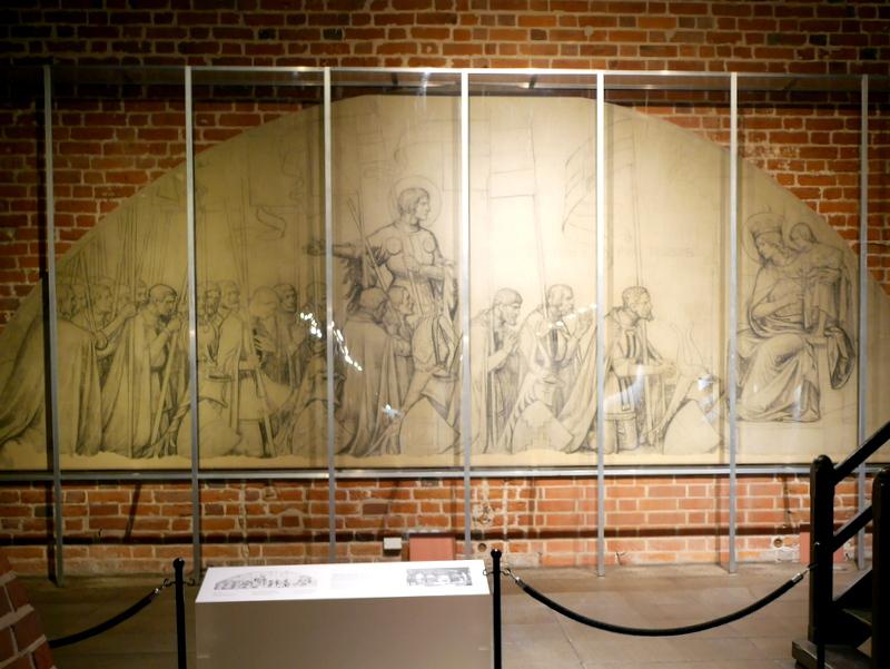 グダニスク ポーランド マルボルク城 タンネンベルクの戦い 北の十字軍 マリーエンブルク ドイツ騎士団   グリュンヴァルトの戦い壁画図案 @Zamek w Malborku