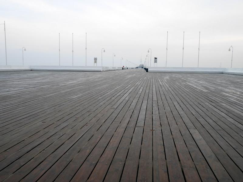 グダニスク グダンスク ダンツィヒ ポーランド ソポト 木製桟橋 桟橋の木製床 @Pier in Sopot