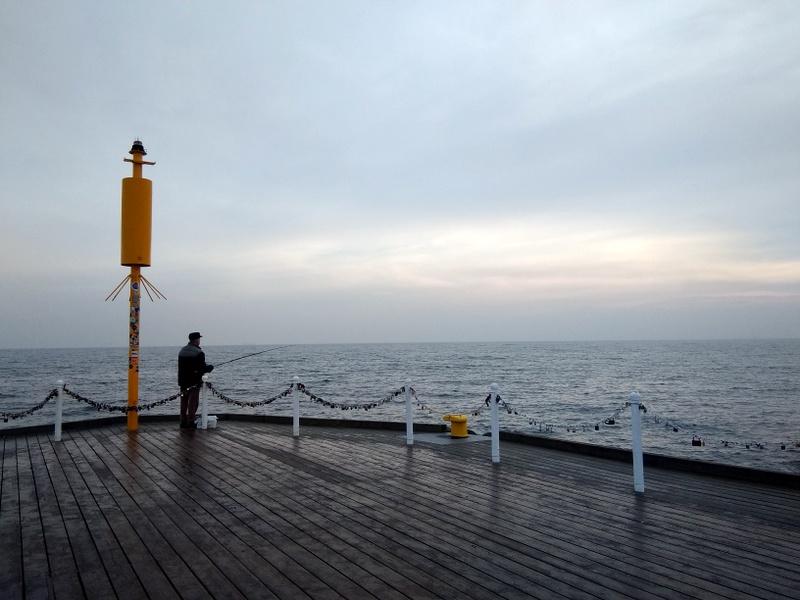 グダニスク グダンスク ダンツィヒ ポーランド ソポト 木製桟橋 桟橋の先端 @Pier in Sopot