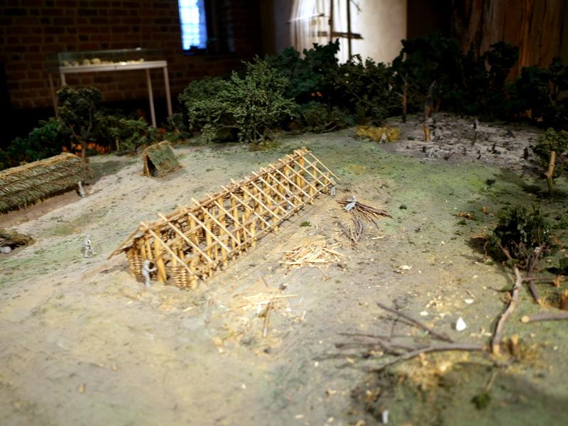 ヴロツワフ ブレスラウ 博物館 考古学博物館 新石器時代の集落ジオラマ @Muzeum Archeologiczne Oddział