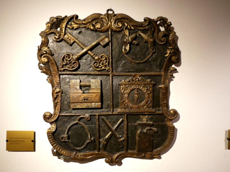 ヴロツワフ ブレスラウ  美術館 シロンスクの芸術都市 国立博物館  錠前屋のギルドのプレート 1750年頃 @Muzeum Narodowe we Wrocławiu