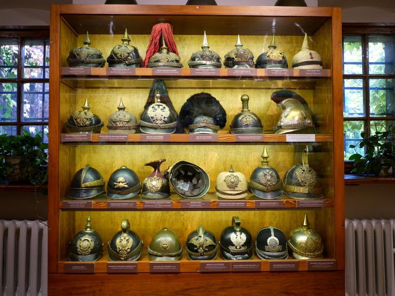 ヴロツワフ ブレスラウ 博物館  軍事博物館 時代がかったヘルメット @Muzeum Militariów