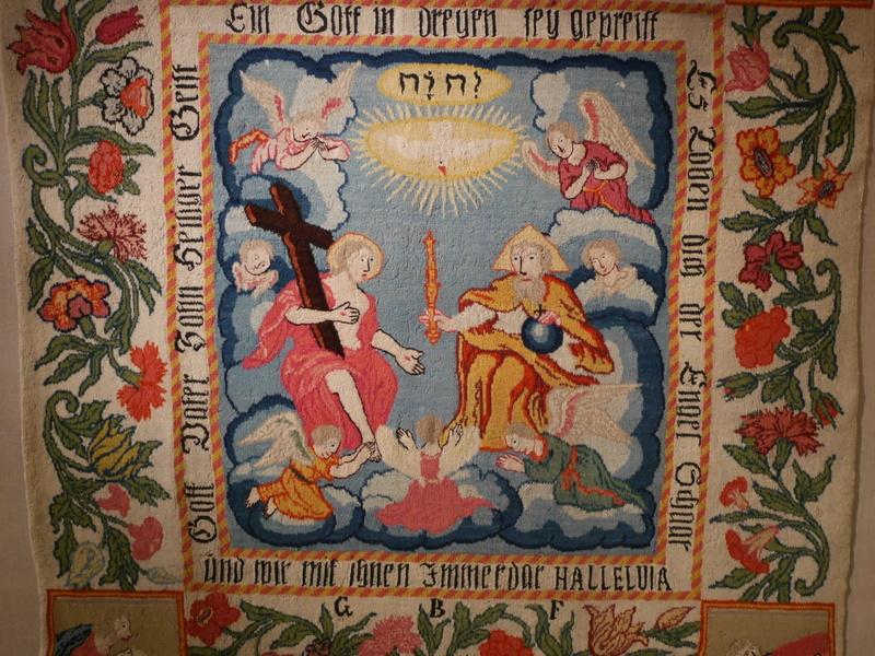 ヴロツワフ ブレスラウ  美術館 シロンスクの芸術都市 国立博物館  なんとも可愛らしい三位一体の織物 1734年 @Muzeum Narodowe we Wrocławiu