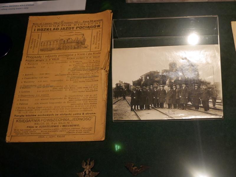 キェルツェ キエルツェ ポーランド キエルツェ歴史博物館 汽車開通時の新聞記事と写真 @Muzeum Historii Kielc
