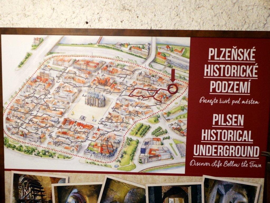 プルゼニ プルゼニュ ピルゼン チェコ ボヘミア 地下道博物館 街中を縦横無尽に走る地下道 @Plzeňské historické podzemí
