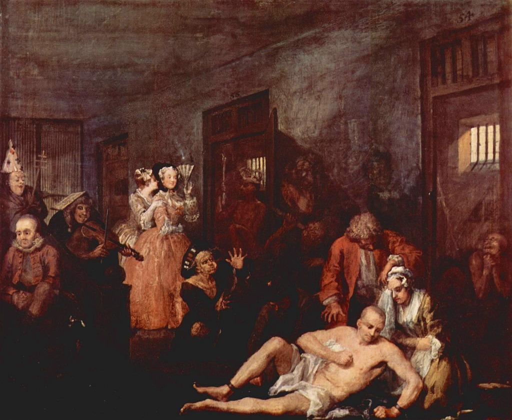 ロンドン 病院博物館 精神疾患  王立ベスレム病院  ベスレム こころの博物館 ベスレム ギャラリー ホガース作『放蕩一代記』の最後の画