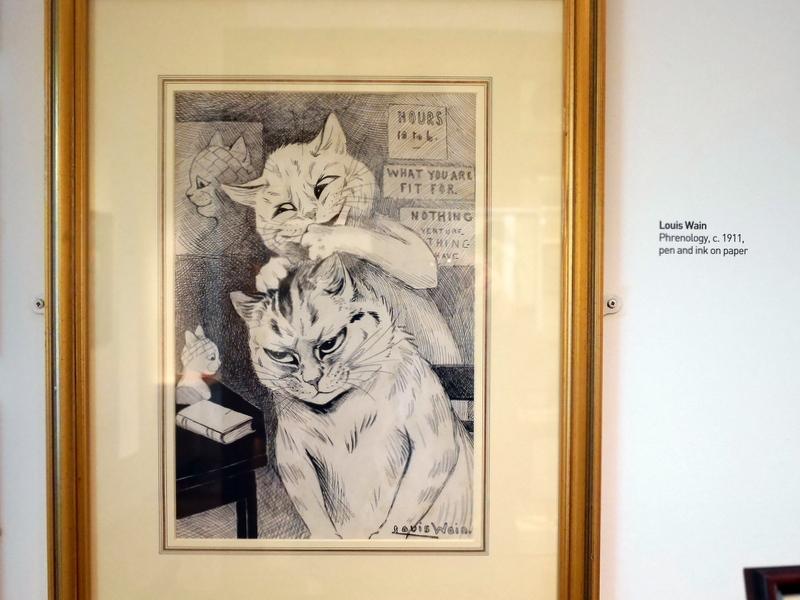 ロンドン 病院博物館 精神疾患  王立ベスレム病院  ベスレム こころの博物館 ベスレム ギャラリー 骨相学(Phrenology)と名付けられたルイス・ウェインの画