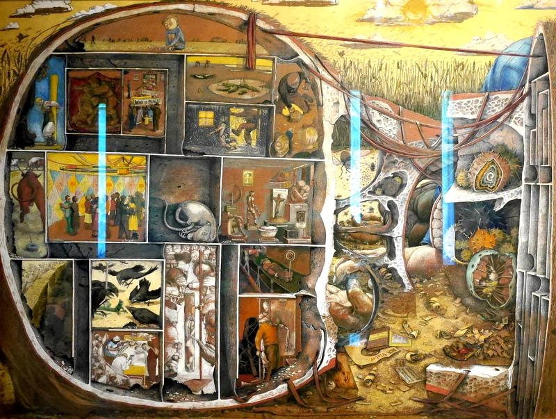 ロンドン 病院博物館 精神疾患  王立ベスレム病院  ベスレム こころの博物館 ベスレム ギャラリー William Kurelek 作 『The Maze』1953