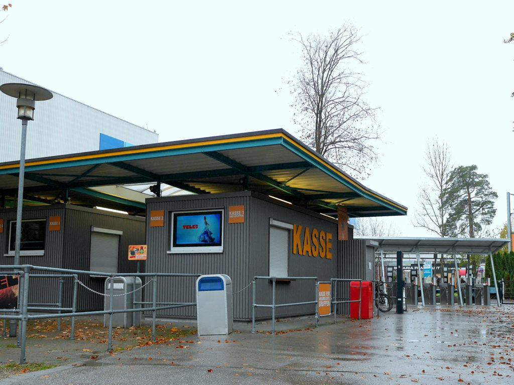 フィルムツアーのゲートとチケット売り場 @Bavaria Filmstadt