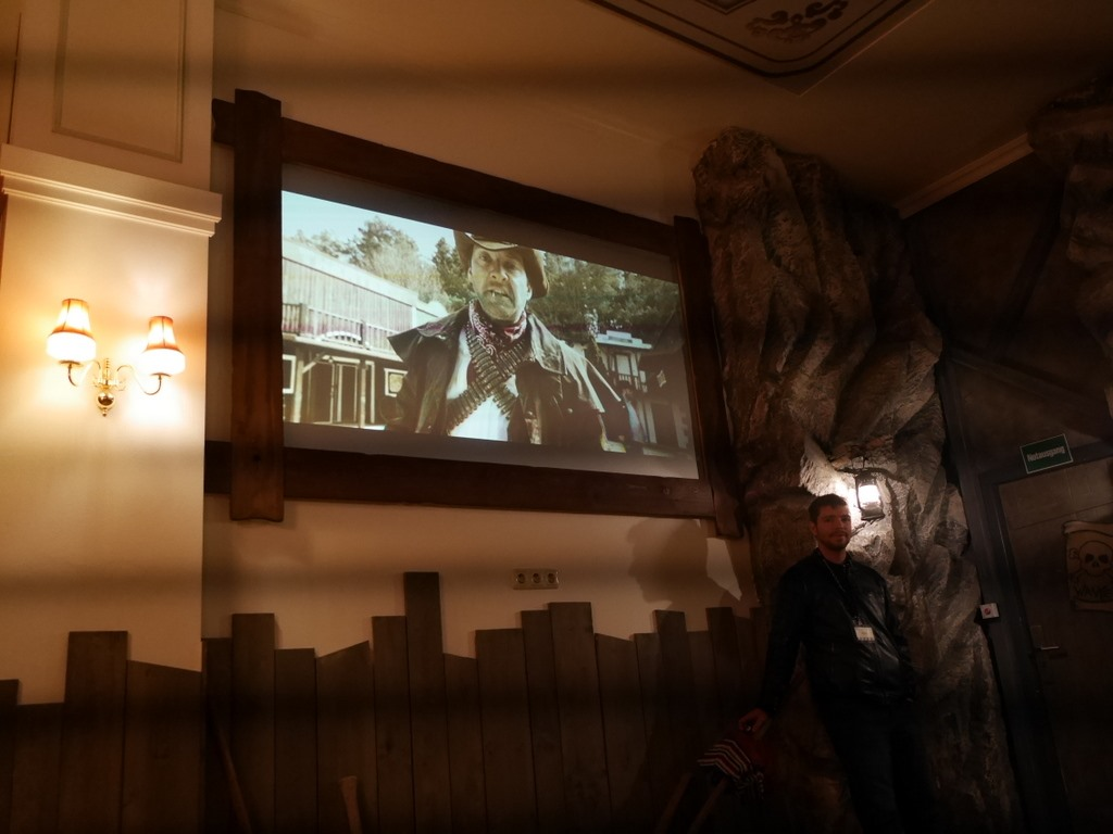 4Dシアターのエントランスにて @Bavaria Filmstadt