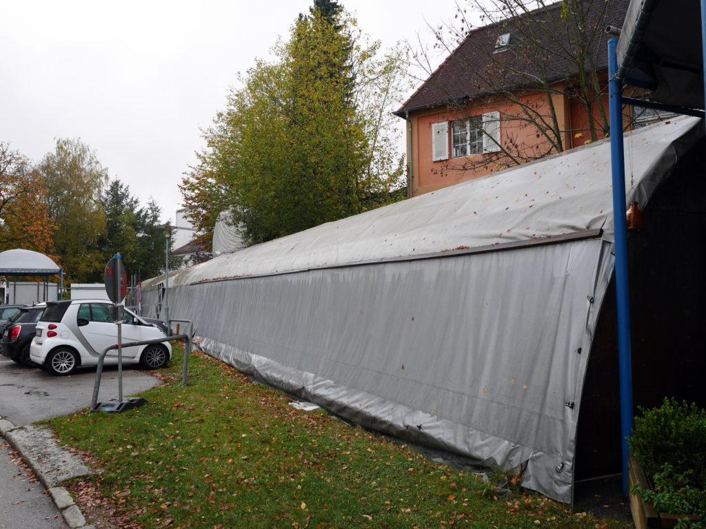 ビニールシートで覆われた潜水艦内部セット @Bavaria Filmstadt