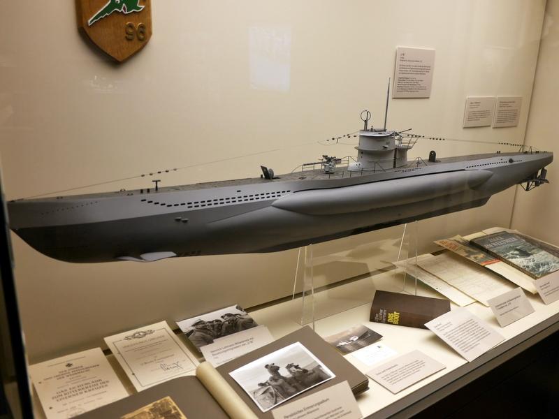 映画のモデルになった U96の模型 ハンブルグの博物館展示@Internationales Maritimes Museum Hamburg 国際海洋博物館