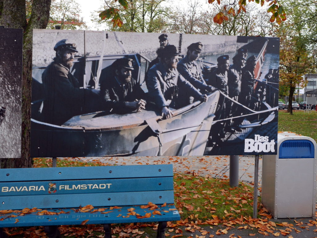 潜水艦の艦橋シーンの写真パネル @Bavaria Filmstadt