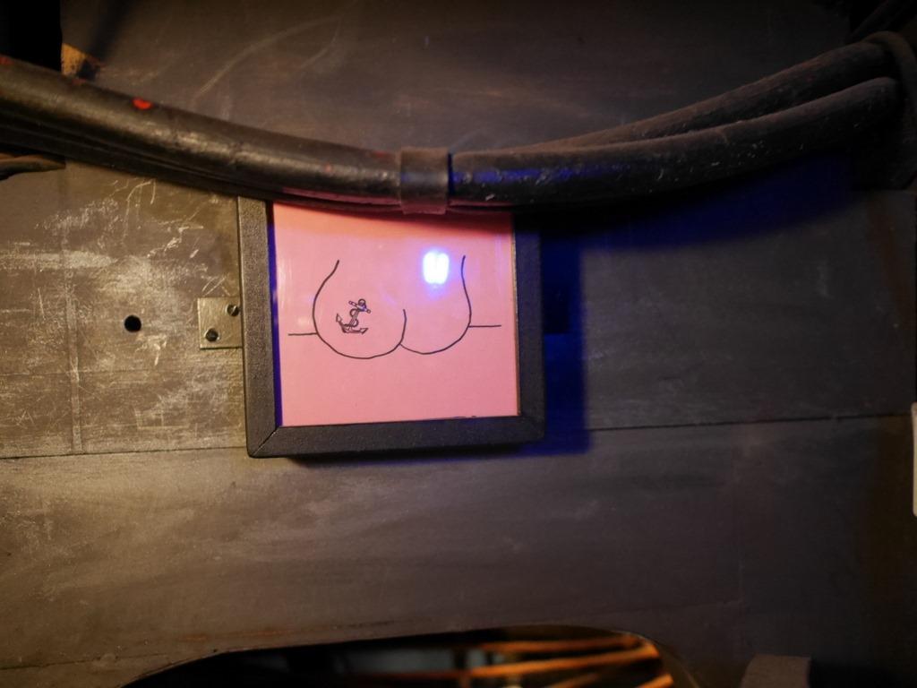 トイレの使用中掲示板 @Bavaria Filmstadt