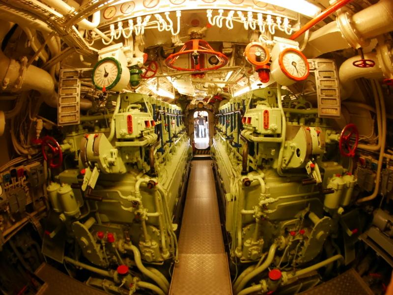 実物Uボート U995の内部 @ Technisches Museum U 995, Laboe