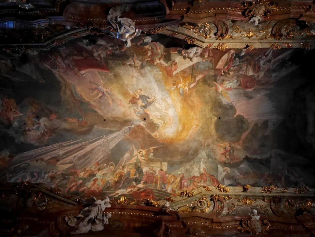ミュンヘン レジデンツ  グロット宮殿 ニンフェンブルク城 アザム教会 旧植物園 礼拝堂天井フレスコ画 @Asamkirche