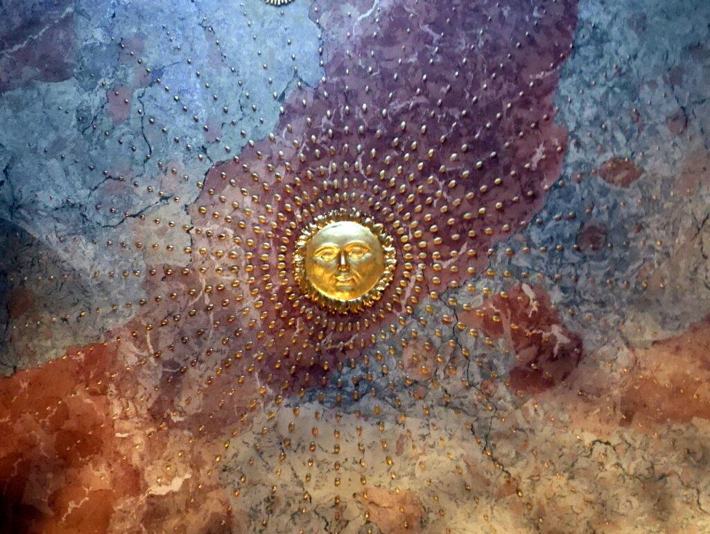 ミュンヘン レジデンツ  グロット宮殿 ニンフェンブルク城 アザム教会 旧植物園 入口天井の紋様 @Asamkirche