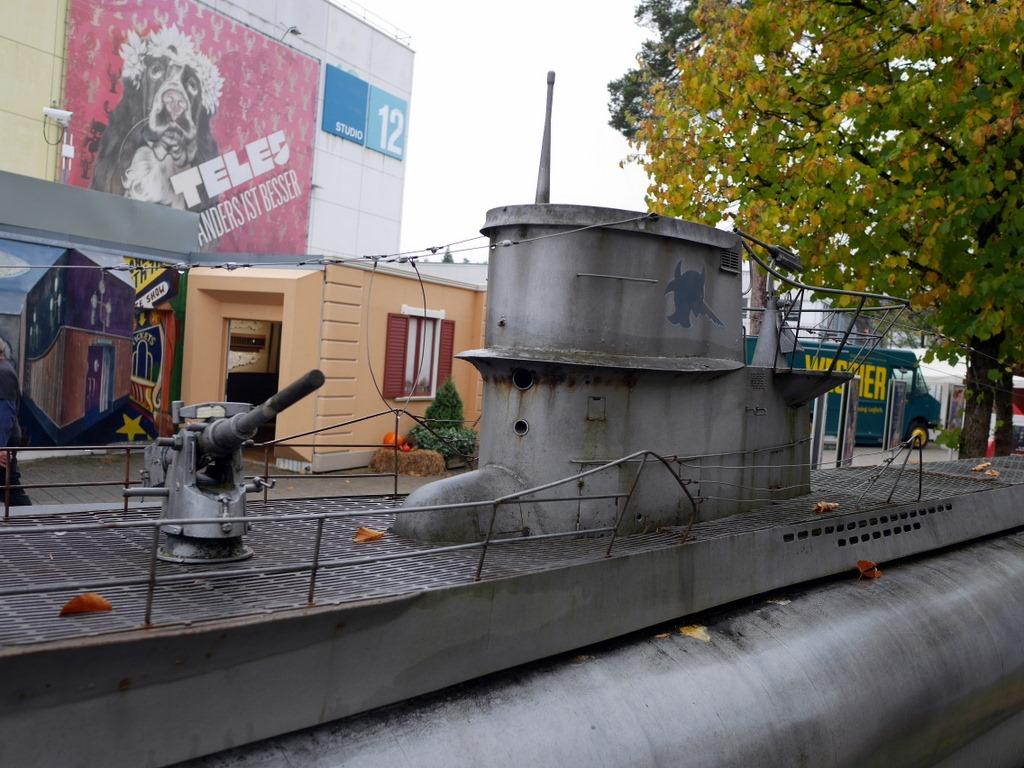 ミュンヘン 美味しいミュンヘン ビール ドイツ料理 レストラントルコ料理 ミュンヘン ババリア フィルムシュタット 映画『U・ボート』(Das Boot)入口付近にある特撮用模型 @Bavaria Filmstadt