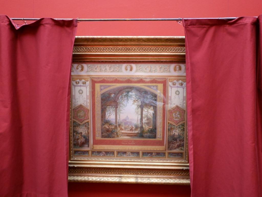 ミュンヘン 美術館 コンビチケット シャック コレクションシャック ギャラリー オイゲン・ナポレオン・ノイロイター作 「ローマのヴィラマルタからの眺め」 @Schack-Galerie