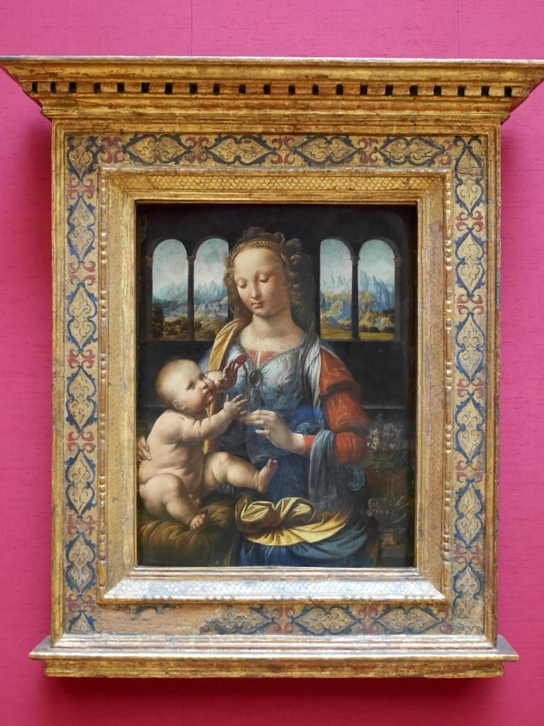 ミュンヘン 美術館  芸術の都でアートを堪能 アルテ ノイエ モデルネ ピナコテーク レオナルド・ダ・ヴィンチ「カーネーションを持つ聖母」 @Alte Pinakothek