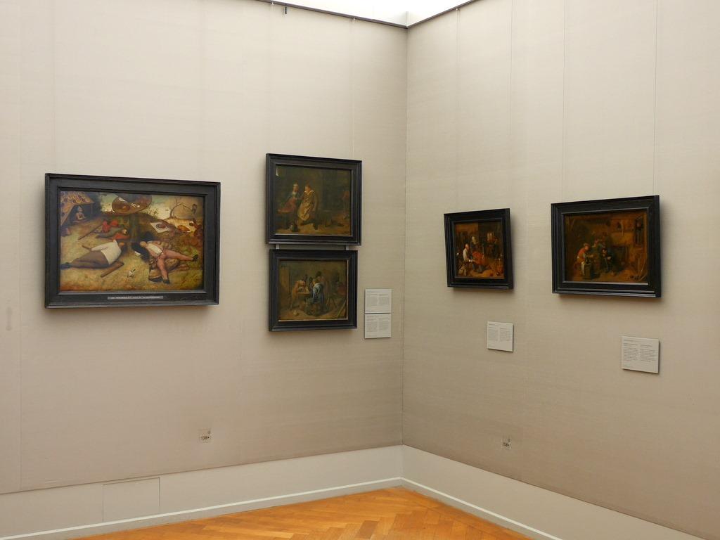 ミュンヘン 美術館  芸術の都でアートを堪能 アルテ ノイエ モデルネ ピナコテーク 寂しげな場所にある ブリューゲル作「怠け者の天国」左端 @Alte Pinakothek