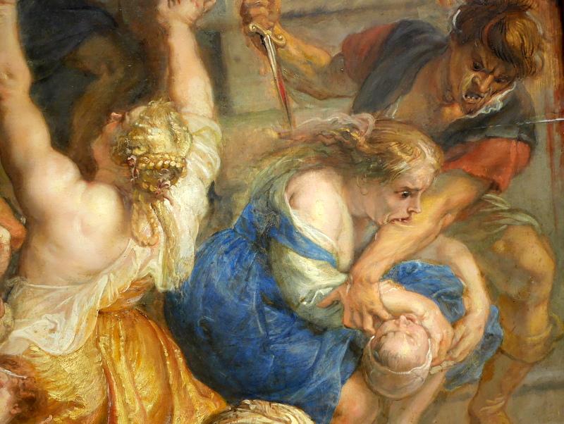 ミュンヘン 美術館  芸術の都でアートを堪能 アルテ ノイエ モデルネ ピナコテーク ルーベンス「幼児虐殺」細部 @Alte Pinakothek