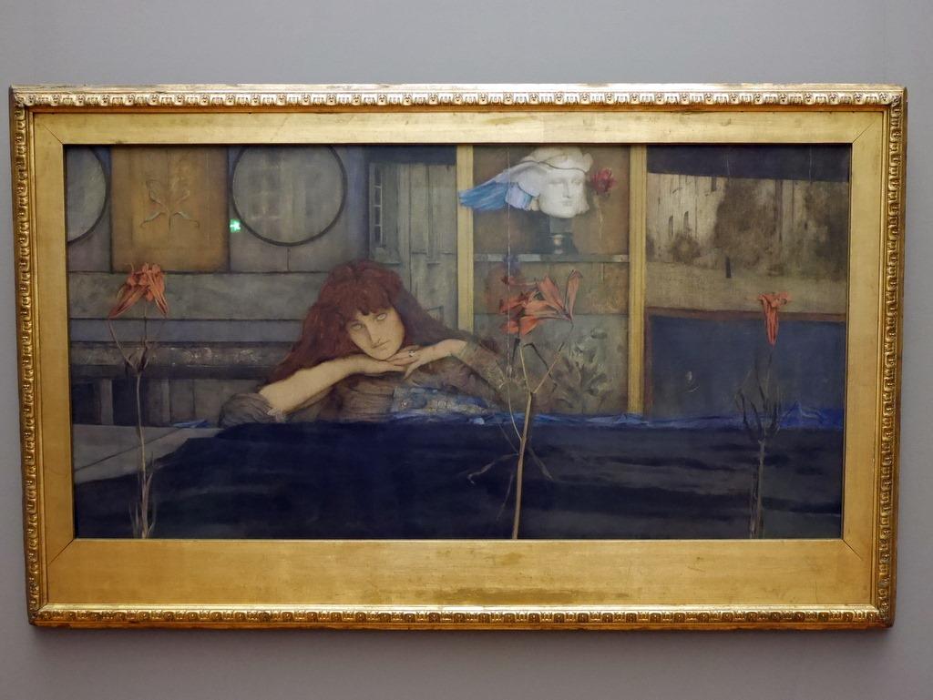 ミュンヘン 美術館  芸術の都でアートを堪能 アルテ ノイエ モデルネ ピナコテーク クノップフ作 「私は私自身に扉を閉ざす」 @Alte Pinakothek