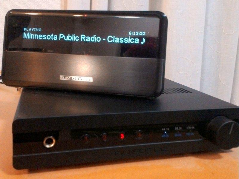 オーディオシステムの変遷 サブシステムのNuforce DAC100に Squeezeboを直結してラジオ再生