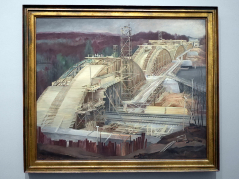 ミュンヘン 美術館  芸術の都でアートを堪能 アルテ ノイエ モデルネ ピナコテーク カール・プロッツェン作 「ライプハイムにかかるドナウ橋」