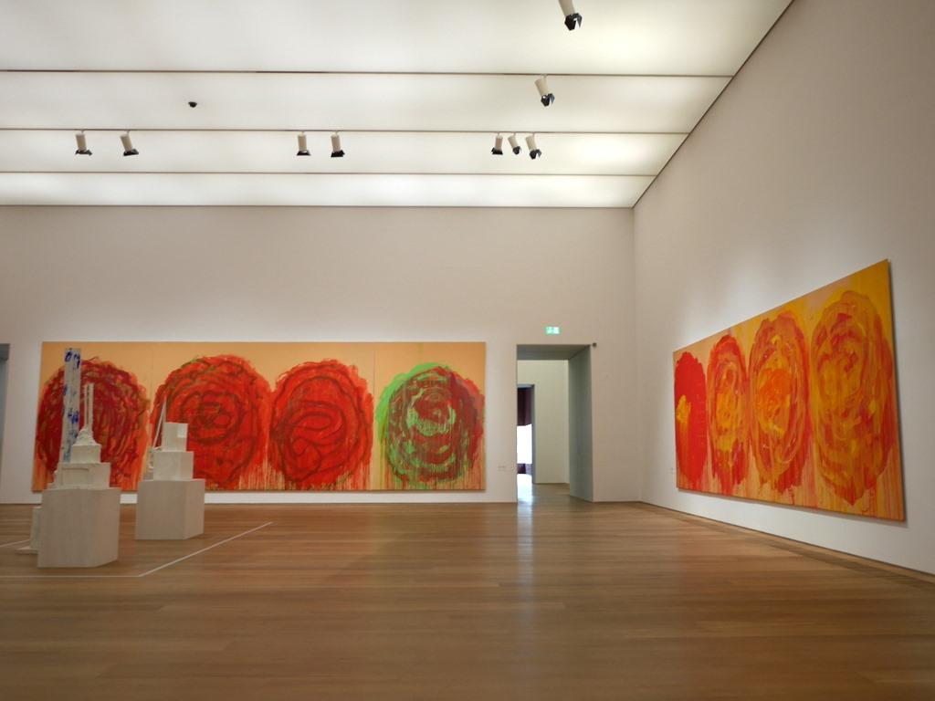 ミュンヘン 美術館 コンビチケット ブランドホルスト サイ・トゥオンブリー作『薔薇(Roses)』@Museum Brandhorst