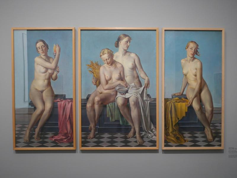 ミュンヘン 美術館  芸術の都でアートを堪能 アルテ ノイエ モデルネ ピナコテーク アドルフ・ツィーグラー作「四元素」 @Pinakothek der Moderne