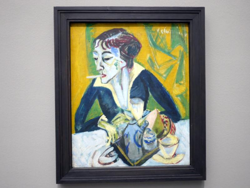 ミュンヘン 美術館  芸術の都でアートを堪能 アルテ ノイエ モデルネ ピナコテーク エルンスト・ルートヴィヒ・キルヒナー作 「タバコとエルナ」