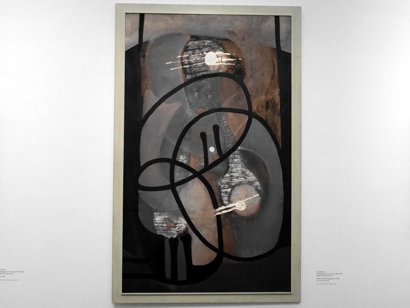ミュンヘン 美術館  芸術の都でアートを堪能 アルテ ノイエ モデルネ ピナコテーク フリッツ・ヴィンター作「Große lineare Komposition」 1934