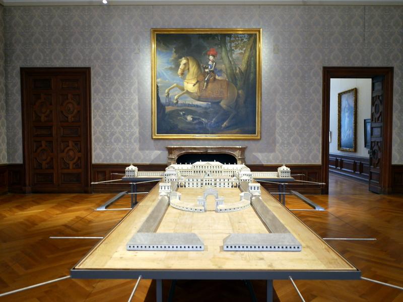 ミュンヘン 美術館 コンビチケット シュライスハイム城 バイエルン州立美術館 シュライスハイム城俯瞰模型 @Schloss Schleißheim