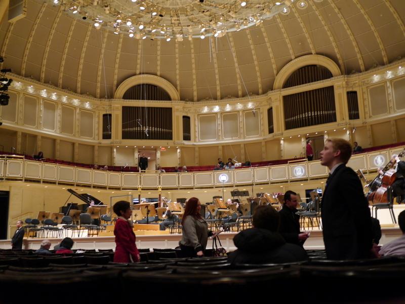 シカゴ交響楽団 オーケストラホール オーケストラホール内 @Orchestra Hall, Chicago