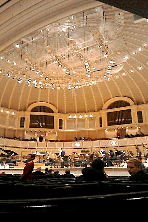 シカゴ交響楽団 オーケストラホール 棚下の席 @Symphony Center, Chicago