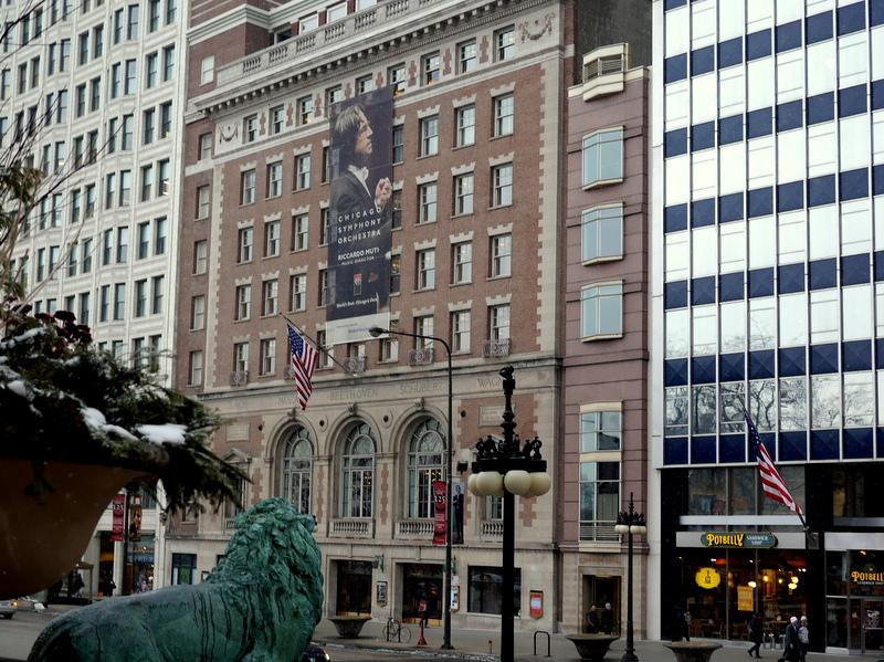 シカゴ交響楽団 オーケストラホール シンフォニーセンター外見 @Symphony Center, Chicago