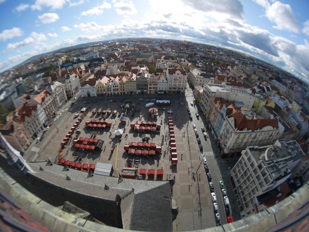 共和国広場を塔の上から @Náměstí Republiky, Plzeň プルゼニ