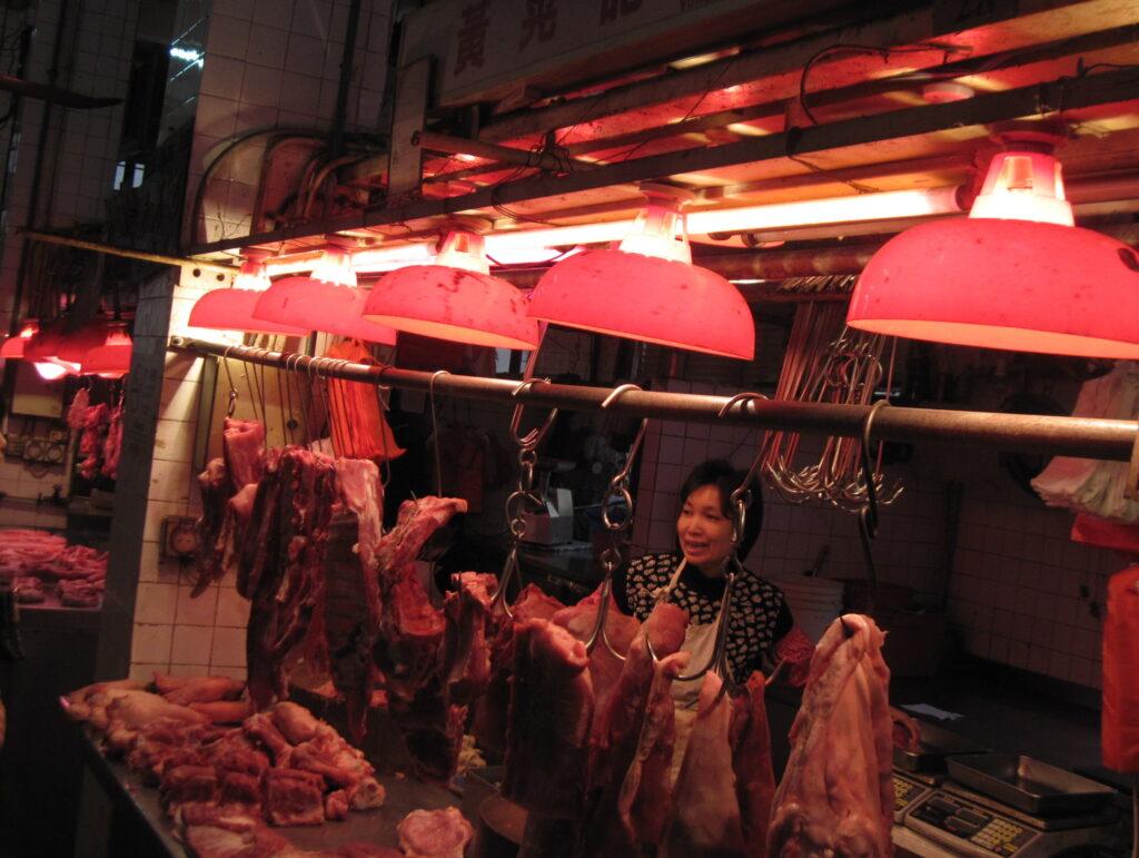 各種お肉も綺麗に並んでいる @紅街市 マカオ