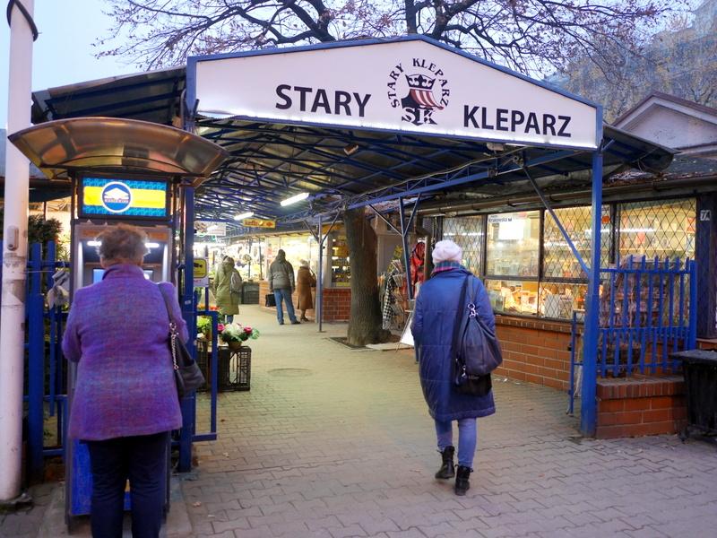 スタリィ・クレバシュ市場の入口 @Plac Targowy Stary Kleparz クラクフ