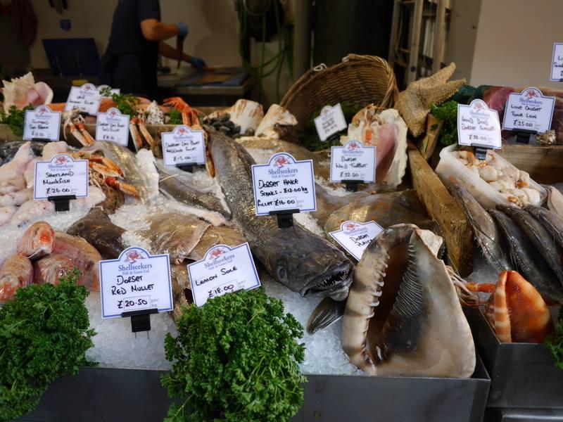 バラマーケットの鮮魚店 @Borough Market ロンドン