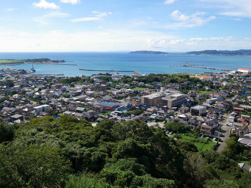 天守閣からの館山市内の眺め @八犬伝博物館