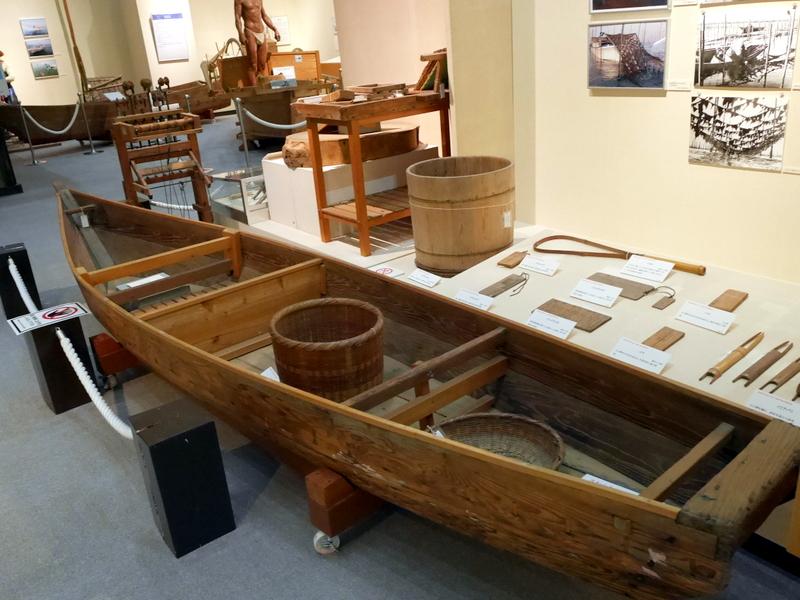 鰹節作り、海苔の養殖の展示 @渚の博物館